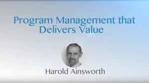 Program Management That Delivers Value