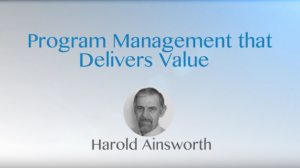 Program Management That Delivers Value